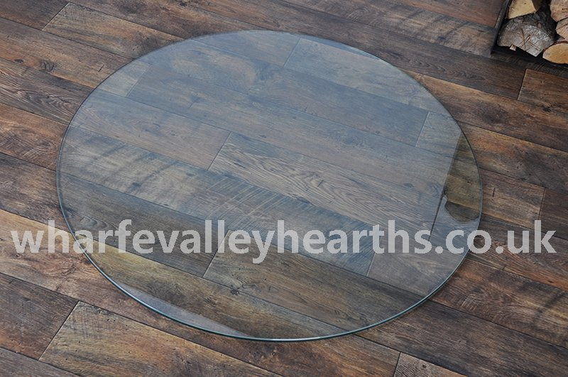 Circular Clear Glass Hearths