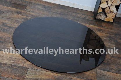 Circular Smoked Glass Hearth