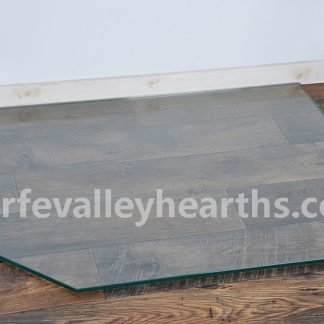 Clipped Corner Rectangle Clear Glass Hearths