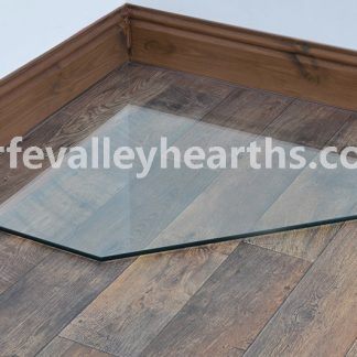 Clipped Clear Glass Hearths