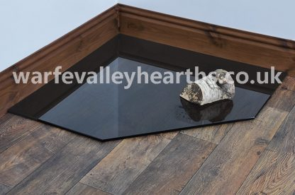 Clipped Corner Square Smoked Glass Hearth