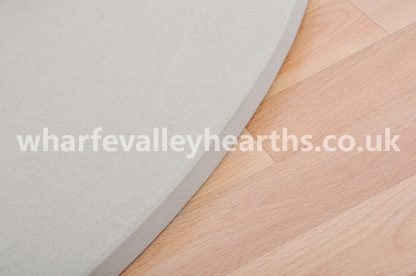 Cream Stone Hearth Close Up
