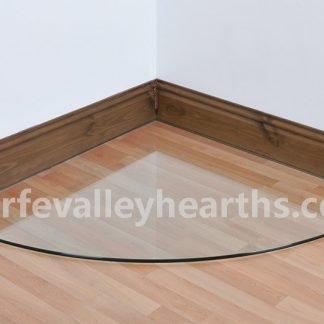 Quadrant Clear Glass Hearths
