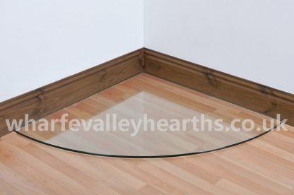 Quadrant Clear Glass Hearths