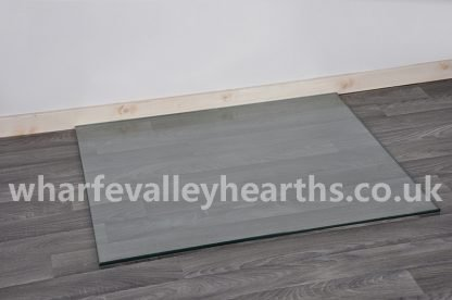 Rectangle Clear Glass Hearths