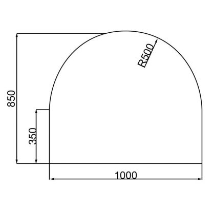 Semi-Circle Hearth Medium Wide