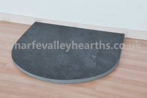 Semi circle Riven Slate Hearth