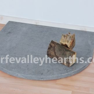 Semi Circle Blue Stone Hearth