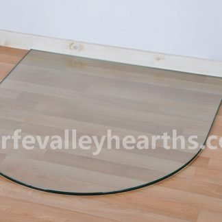 Semi Circle Clear Glass Hearths