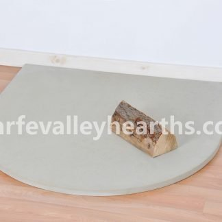 Semi Circle Cream Stone Hearth