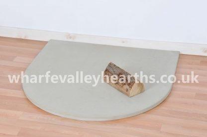 Semi Circle Cream Stone Hearth