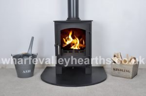 Semi circle Black Granite Hearth - Main