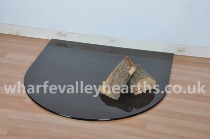 Semi Circle Smoked Glass Hearth