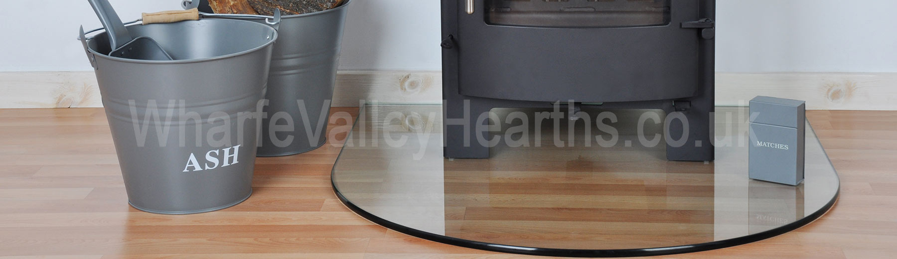 Semi-Circle Glass Hearth