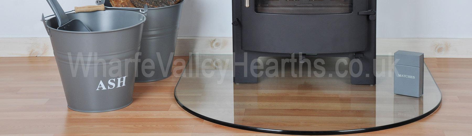 Semi-Circle Glass Hearth