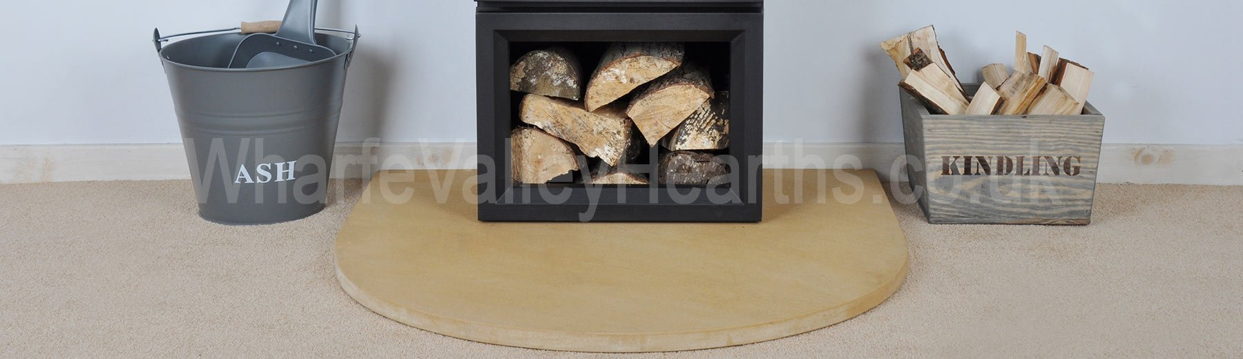 Gold Sandstone Semi-Circle Hearth