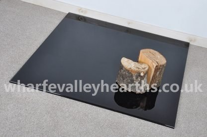 Square Black Glass Hearths