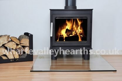 Square Clear Glass Hearths