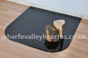 Tinted Black Standard Glass Hearth