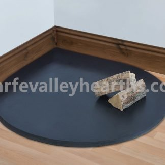 Smooth Slate Teardrop Hearths for Stoves