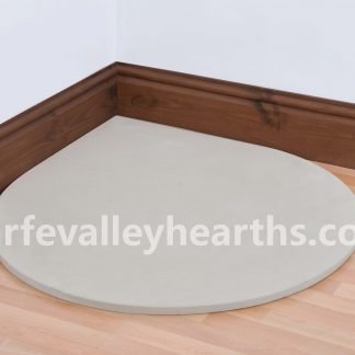 Teardrop Cream Stone Hearth