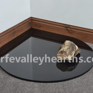 Polished Granite Teardrop Glass Hearth