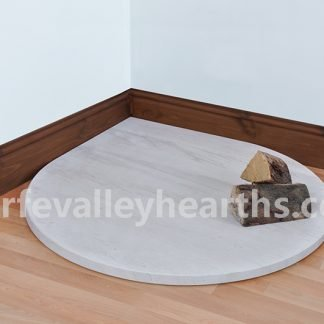 White Stone Teardrop Hearth
