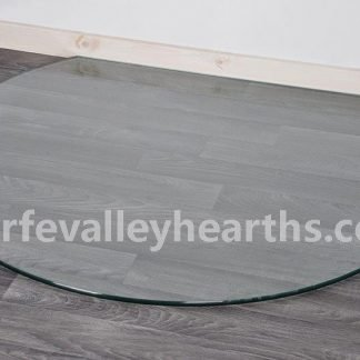Truncated Clear Glass Hearth