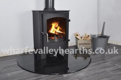Truncated Smoked Glass Hearth