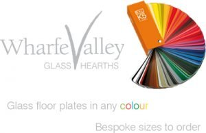 Colours of Glass Hearths by Wharfe Valley Hearths